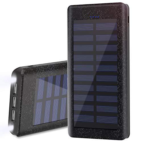 Batería Externa Power Bank 24000mAh , Cargador Solar de Wiswan con puerto de alta...