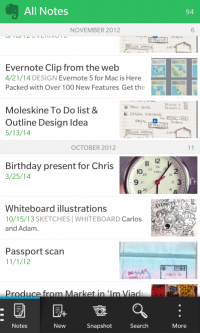 evernote2 App para Blackberry