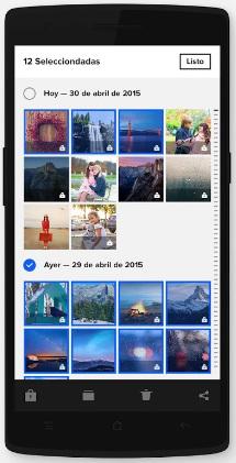Aplicación para organizar fotos
