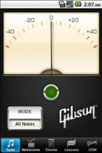 gibson2 App para aprender a tocar la guitarra