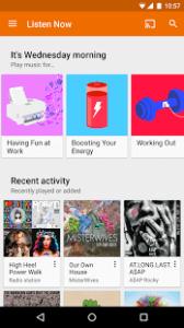 googleplaymusic2 Apps para escuchar música sin conexión
