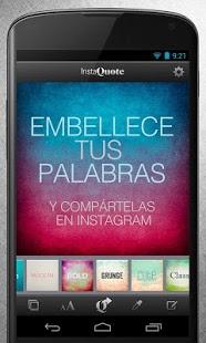 instaquote2 App para escribir en fotos