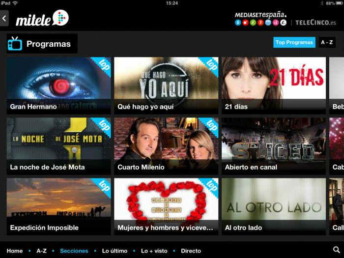 mitele-mejores-aplicaciones-para-ver-tv-en-iphone ~TOP Apps (iOS ...
