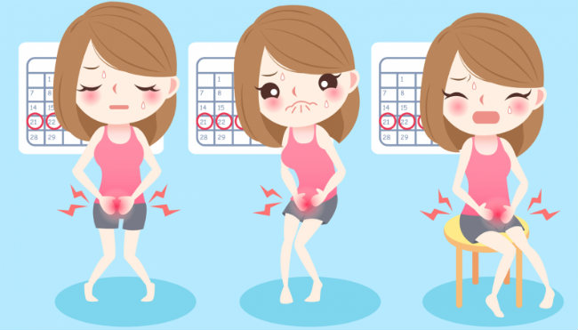 calendario menstrual de las mujeres