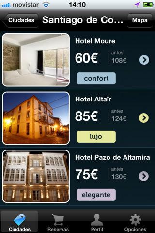 Apps para hoteles y vuelos