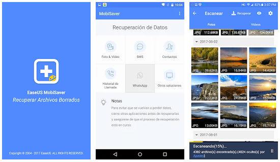 Apps para recuperar datos